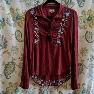 Anthropology Rahi Cali embroidered Blouse